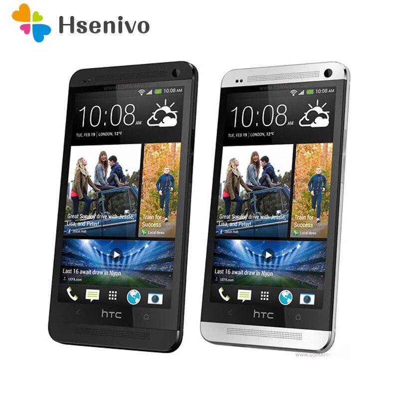 Unlocked Original Mobile Phones HTC ONE M7 2GB RAM 16GB ROM Smartphone 4.7 Inch Screen Android 5.0 Quad Core Touchscreen HTC M7