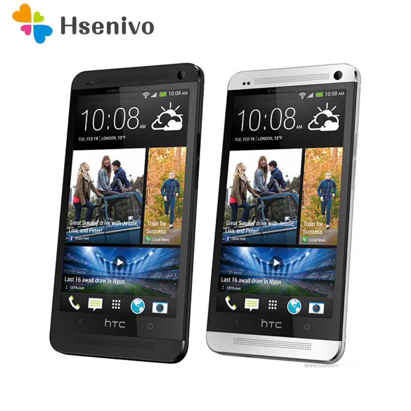 Unlocked Original Mobile Phones HTC ONE M7 2GB RAM 16GB ROM Smartphone 4.7 inch Screen Android 5.0 Quad Core Touchscreen HTC M7 image