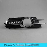 12V Car DRL Kit For VOLKSWAGEN SCIROCCO 2010 2013 Daytime Running Light Bar Daylight Fog Lamp