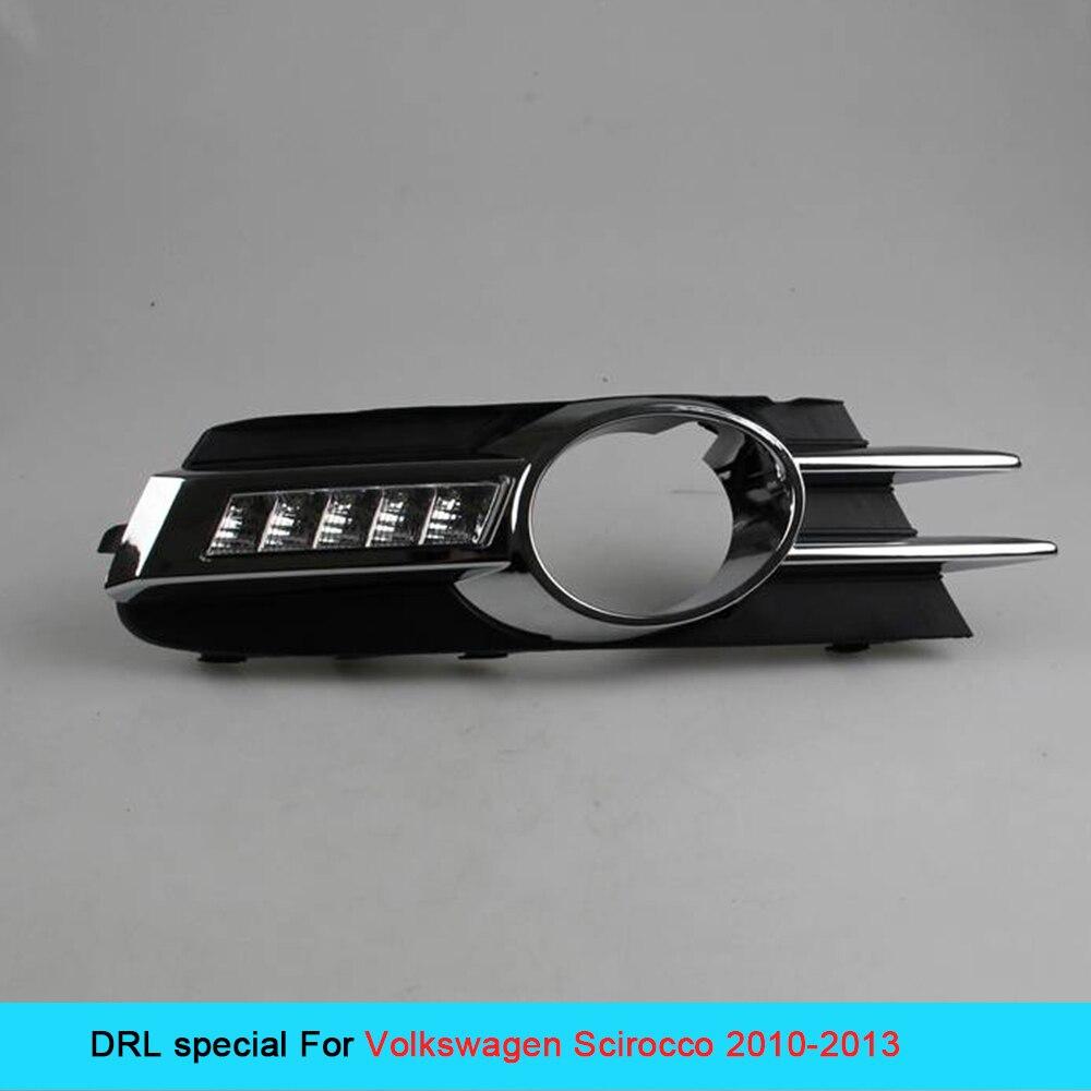 12 В автомобиля DRL комплект для ФОЛЬЦВАГЕН СИРОККО 2010~2013 дневные ходовые свет супер яркий