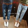 2016 Nova Mulher Ocasional Calça Jeans boyfriend jeans rasgado skinny lápis Plus Size Harém Calças de cintura alta do vintage Calças calca feminina