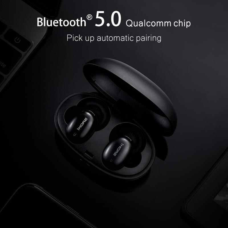 1 więcej E1026BT stylowe prawdziwe bezprzewodowe słuchawki Bluetooth 5.0 douszne mini Sport zestaw słuchawkowy obsługuje aptX ACC z mikrofonem układ Qualcomm