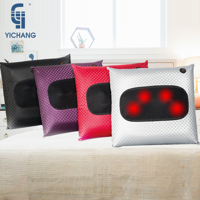 Electric color Heated massage pillow therapeutic shiatsu car home massager cushion back buttocks infrared seat cushion цена 2017