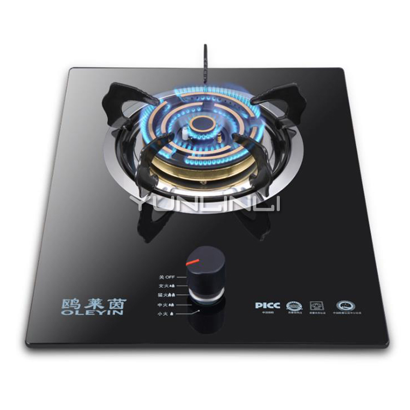 Single-burner Gas Stove Embedded/Table Type Gas Furnace Household Gas Cooker JZY-G610T earth star outdiameter 130mm sabaf triple burner i 130mm for gas cooker with base