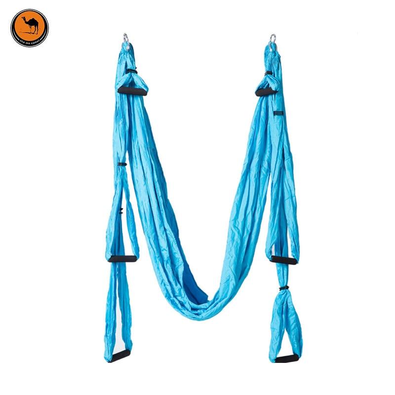 New Arrivals Portable High Strength Cotton Fabric Hammock Sky blue Yoga & Camping Dual Use Parachute Hammock 250*150cm blue sky чаша северный олень