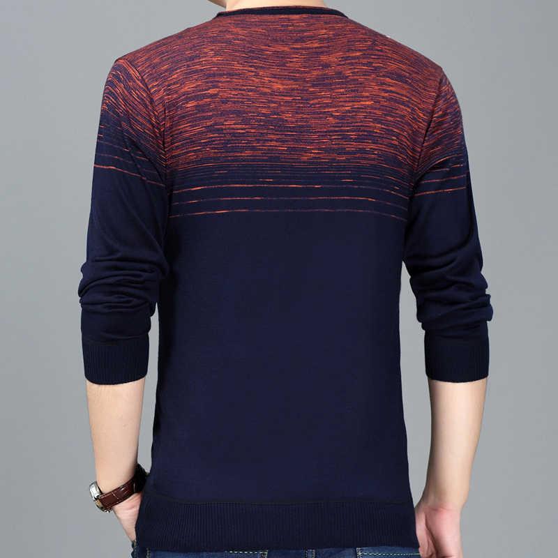 2019 brand new casual sociale gestreepte trui trui shirt jersey kleding pull truien mens fashion mannelijke knitwear 258