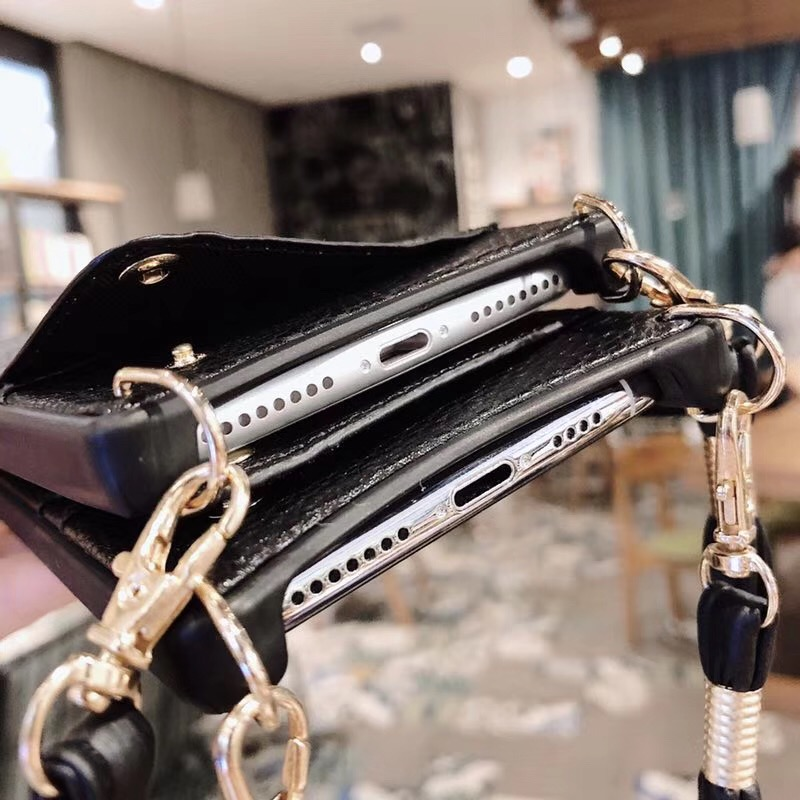 HTB15lU.eRKw3KVjSZFOq6yrDVXab Credit Card Leather Wallet Strap Crossbody Long Chain Phone Case for Iphone 11 pro XR XS Max 6S 8 7 plus luxury Back cover coque