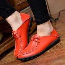 Женская Обувь 100% натуральная Кожа женщины квартиры