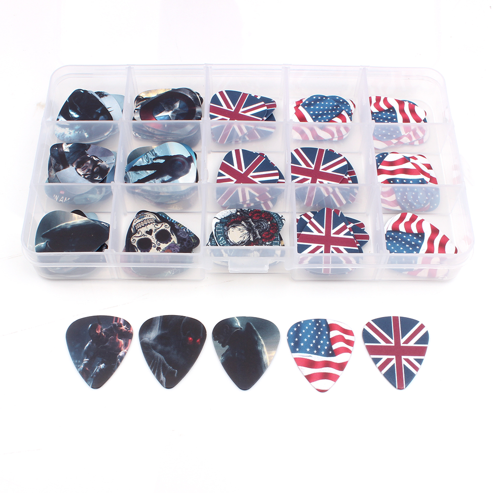SOACH 100pcs guitar pick box for acoustic guitar plucked instrument with play string guitarra stratocaster Guitar paddle parts