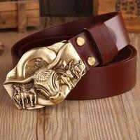 2016 Dragon Hot Designer Belts Men High Quality Vegetable Tanned Full Grain Cowhide 100 Genuine Leather