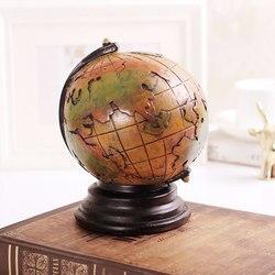 Europa kreatywny Vintange Retro globe skarbonki home decor skarbonka skarbonka skarbonka pudełko na monety dekoracja biurka skarbonka
