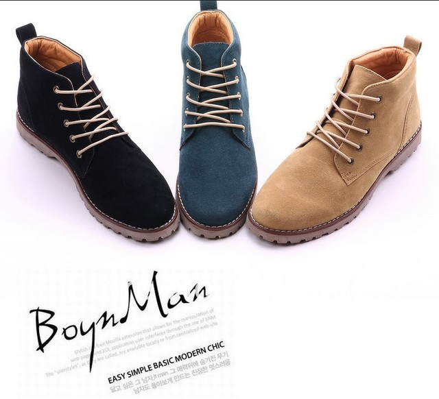 New winter brand athletic Male ankle platform boots 2013  land shoes autumn and winter boots casual martin boots