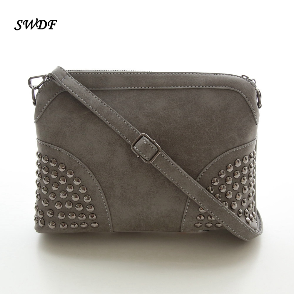 SWDF-Rivet Shoulder Women Bag Shell Chain Strap Crossbody Woman Designer with Clutch Bolsa Feminina