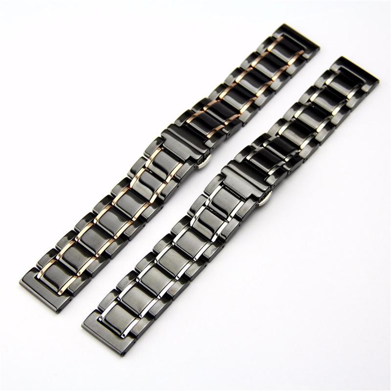 Bracelet en céramique pour Samsung galaxy active 46/42 bracelet de montre pour Amazfit Pace/Stratos 2/Bip montre intelligente bracelet en céramique de haute qualité