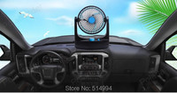 New car auto cooler fan 24V Adjustable Strong Wind Mini Electric Fan for Car Blue/Black Auto Cool Fan