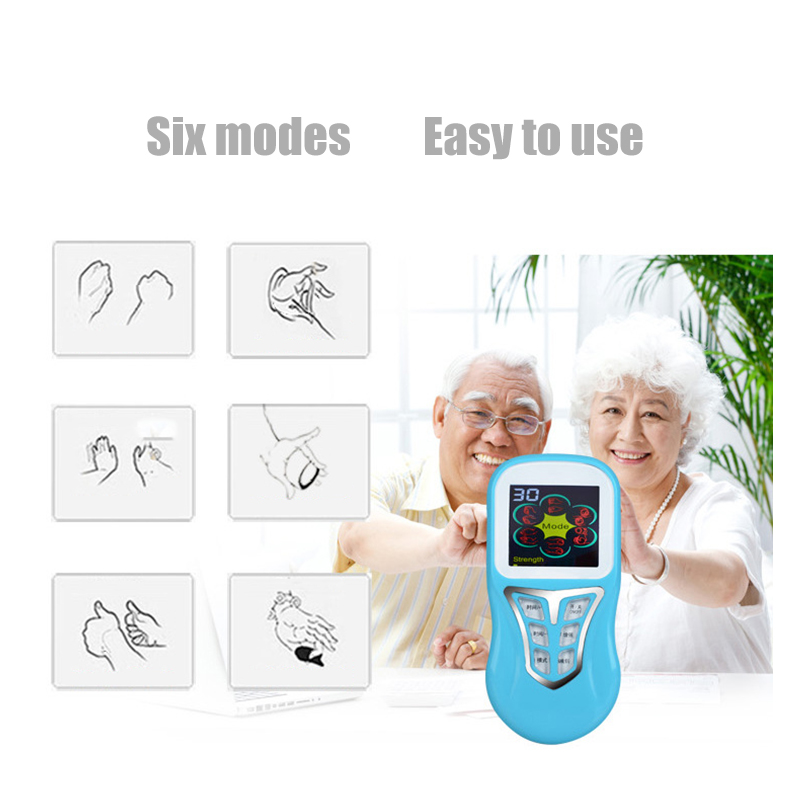 massager color screen voice massage instrument digital meridian instrument pulse point instrument electroth  therapy instrument 2017 hot sale mini electric massager digital pulse therapy muscle full body massager silver