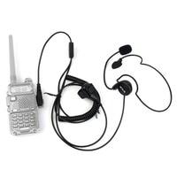 uv 5r uv ניו 2 פין אפרכסת מיקרופון אצבע PTT אוזניות עבור Kenwood Baofeng רדיו UV-5R 777 888s WOUXUN HYT PUXING איכות גבוהה C2014A (5)
