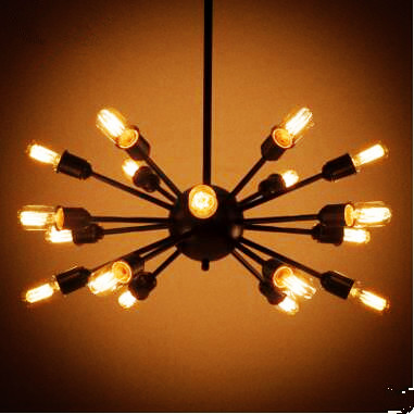 Nordic Spider Edison Loft Style Industrial Lamp Retro Vintage Pendant Lights Fixtures Lampen Hanging Light Lamparas Colganes vintage nordic retro edison bulb light chandelier loft antique adjustable diy e27 art spider pendant lamp home lighting