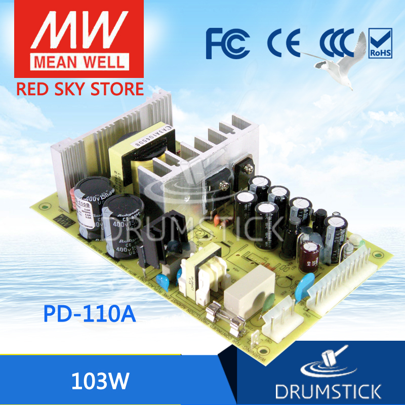 все цены на  hot-selling MEAN WELL PD-110A meanwell PD-110 103W Dual Output Switching Power Supply  онлайн