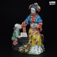 Shiwan doll master of fine ancient characters of a dream of Red Mansions twelve beauties Lee ceramic ornaments crafts