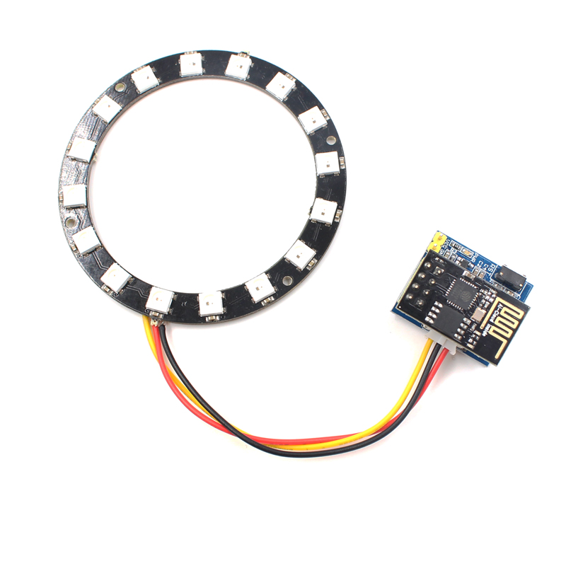 Elecrow ESP8266 ESP01S ESP01 RGB LED for Arduino Smart Wifi DIY Kit WS2812 Light Ring Electronic Maker Student Education ...