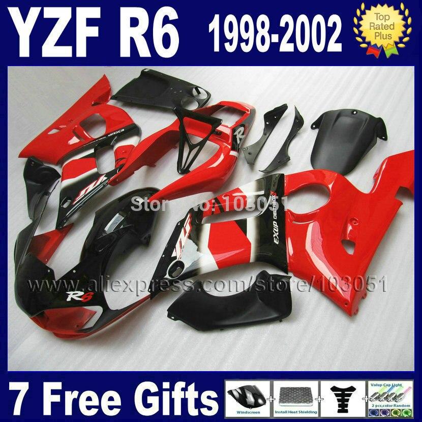 Custom racing motorcycle fairing for YAMAHA YZFR6 1998 1999 YZF600 02 01 00 99 98 YZF R6 2000 2001 2002 aftermarket fairings