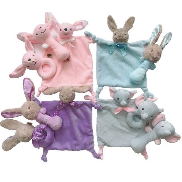 Pasgeboren baby speelgoed 0-12 maanden konijn/herten/olifant zachte pluche rammelaars voor baby educatief/developmental /muziek/mobiele baby speelgoed 1