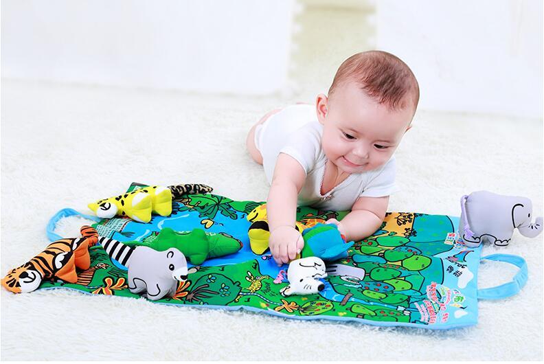 Image 3 - Детские мягкие активности, разворачивающаяся ткань с хвостом животного для Книги для малышей; Игрушки для раннего развития детей для возраста от 0 до 12 месяцев подарок 40% off