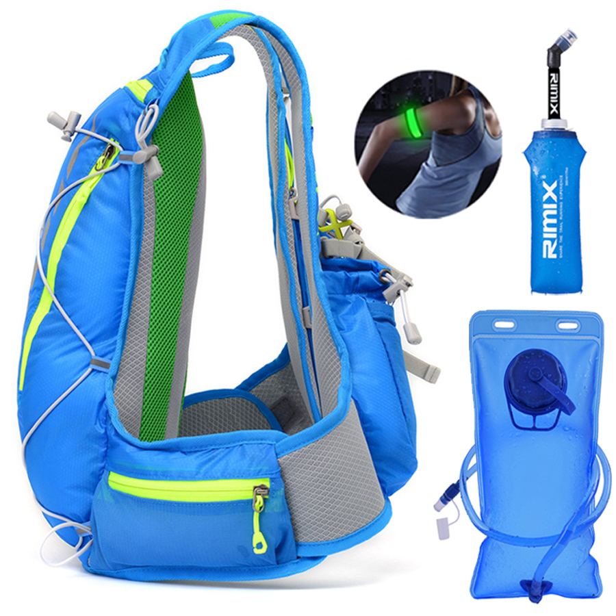 軽量ランニング水分補給ベストバックパック 15L 屋外トレイルランニングマラソンサイクリングハイキングクライミング屋外スポーツバッグパック XL