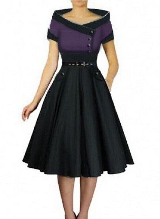 Plus Size Vintage 1950s Dresses