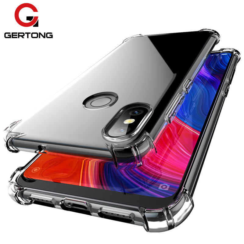 GERTONG Transparent TPU Silicone Case For Xiaomi Mi 8 9 SE A1 A2 MiA2 lite Anti-Knock Protective Cover For Redmi Note 5 6 7 Pro