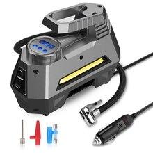 Przenośna sprężarka powietrza pompa do opon opona samochodowa z cyfrowy manometr (150 Psi 12V Dc), Bright Emergency Flashligh