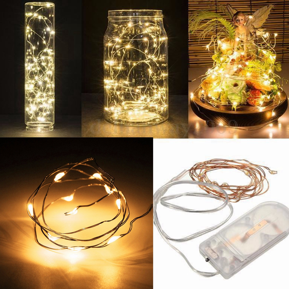 1/2M Waterproof Fairy Lights LED String Light For Christmas Holiday Party Garden Bedroom Wedding Decoration Outdoor Indoor Lamp