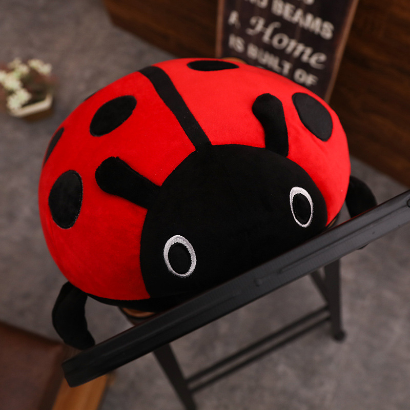 cute plush toy soft creative ladybug ladybird insect hold doll pillow cushion novelty children birthday gift large watermelon style plush toy pillow doll home cushion birthday day gift