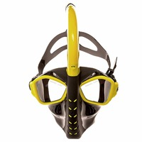 Snorkel Mask Anti fog and Anti leak Qiiwi Alien Full Face Design Snorkeling Diving Mask Technology Water Sports