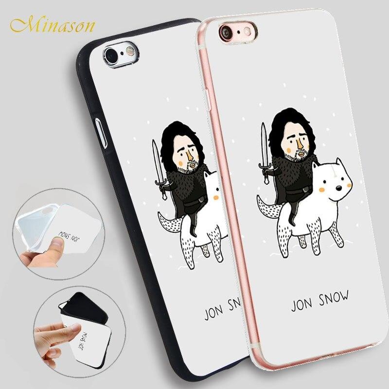 Minason Джон Сноу Игра трон Hellip Мягкий силиконовый чехол для телефона iPhone X 8 7 6  ...