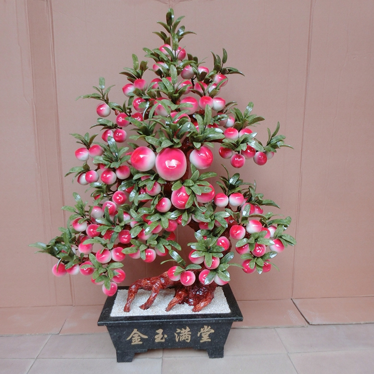 Natural jade jade peach tree living room decoration 128 Peach-Shaped Mantou ornaments Home Furnishing jewelry natural jade ornam jingdezhen lang jun kiln ceramics antique red censer living room decoration decoration gift home furnishing