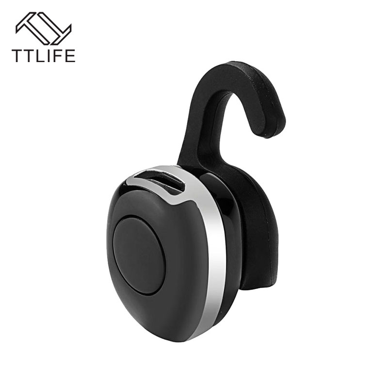 TTLIFE Mini Bluetooth Earphone Wireless Stereo Headphones Ultra-small Music Headset Earbud With Microphone For Phone 7 Samsung