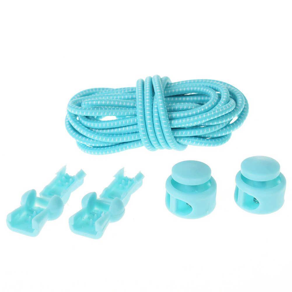 1 Uds Unisex sin cordones Cordones redondos cordones de zapato liso elástico cordones de zapatos zapatillas de deporte rápido y fácil Cordón de exteriores