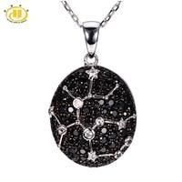 Hutang 12 Constellation Collana Sagittario Zodiaco Nero Spinello Topazio Pietra Preziosa Collane e Ciondoli In Argento 925 Monili Regalo
