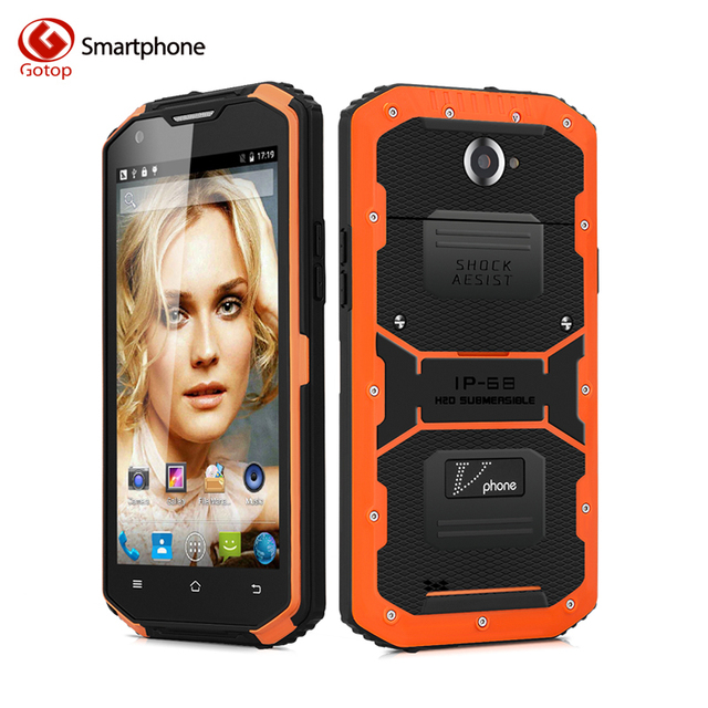 NO.1 X3 Vphone X3 Smartphone 5.5 Inch Android 5.1 MTK6735 Quad Core IP68 Waterproof Mobile Phone 2GB+16GB 4500mAH Cell Phone