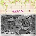 Цветок Серии BQAN 1 Листов Различные Точки Дизайн Ногтевой Пластины Оцинкованной FL08
