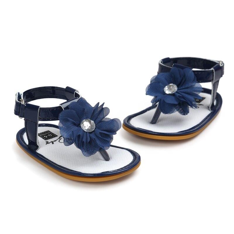 SportHome Toddler Cute Girl Polka Dot Flower Soft Newborn Anti-Slip Baby Shoes