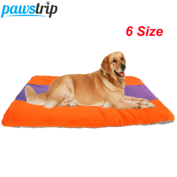 6 Size Soft Fleece Dog Bed Mat Chihuahua Husky Puppy Cushion Winter Warm Pet Dog Crate Beds
