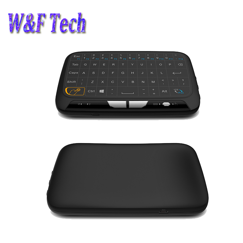 2017 New H18 Full Touchpad 2.4GHz Wireless mini keyboard Gaming Air Mouse with Touch pad For Smart tv box,,Android Box,PC,TV image