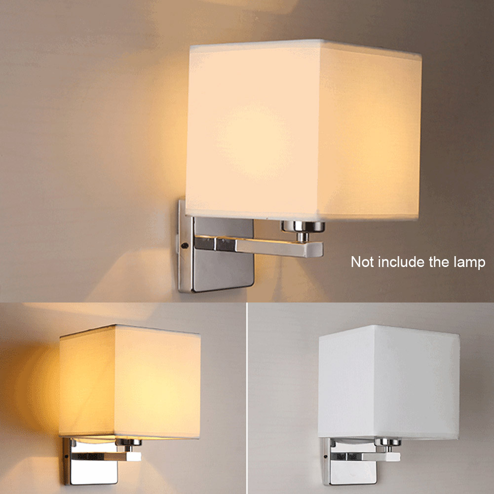 Fashion led cloth wall lamp sconce light for hotel reading for Wall light fixtures bedroom