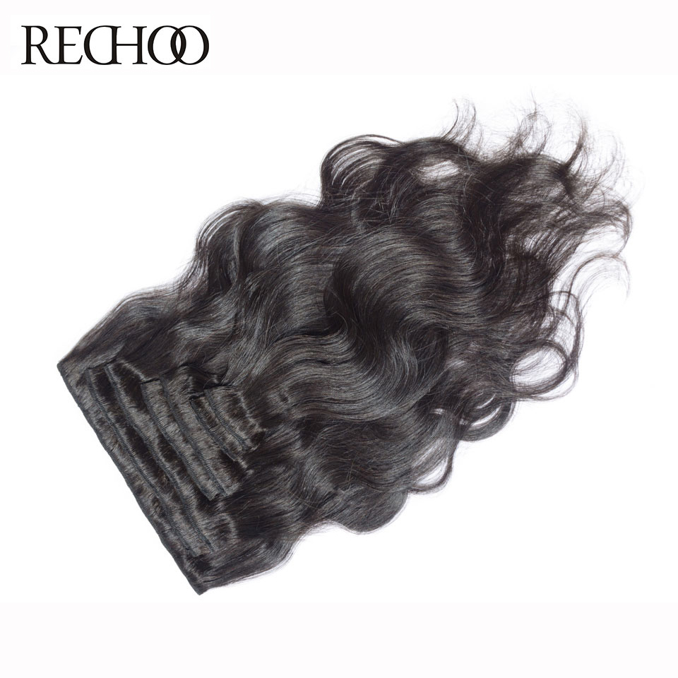 Aliexpress buy rechoo body wave non remy 100 human hair 1b aliexpress buy rechoo body wave non remy 100 human hair 1b color natural black clip in hair extensions 12 14 16 18 inches 70g clips in from reliable pmusecretfo Image collections