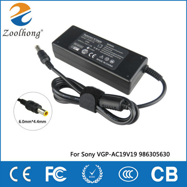 19.5V 4.7A 90W laptop AC power adapter charger for Sony Vaio VGN AX VGN BX VGN C VGN CR VGP VPC VGC 6.0mm * 4.4mm