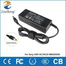 Carregador adaptador de energia, 19.5v 4.7a 90w laptop ac carregador para sony vaio VGN AX VGN BX VGN C vgp vpc vgc 6.0mm * 4.4mm