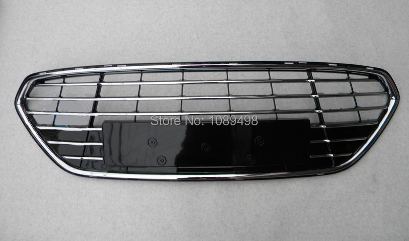 1 PC baking painted all electroplate front bumper lower grille chromed for Ford Fusion Mondeo 2011 2012